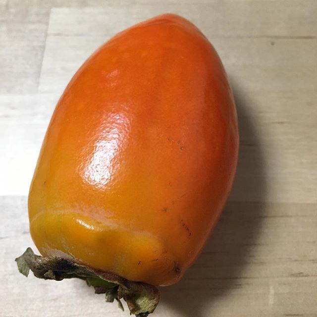 """気にならなければそのままどうぞ近くのスーパーで「筆柿」という種類の柿を見つけた。ネットで調べてみると、形状が筆の穂先に似ているために、そう呼ばれている種類だそうだ。驚きなのは、一本の木に甘い柿と渋い柿が両方実ってしまうそうなのだが、渋い柿は選別機で選り分けられるらしい。どうして選別できるんだぁ?そんなことはともかく、この柿の売り文句は「とても甘く、皮が薄いのでそのまま丸かじりできる」とのこと。 「お〜!皮をむく手間が省けるなんてイイね!」ということで思わず購入。よくよく考えれば、柿を皮ごと食べても問題なさそうだし、なんで今まで当たり前のように皮をむいていたんだろう?と考え直す。さてさて、ではこの筆柿を丸かじりしてみよう!う〜ん、確かに食べられないことは無い。しかしながら実の部分に比べて当然固い皮の部分が噛み砕かれて口いっぱいに広がることは否めない。多少気になるっちゃあ気になるが「まあそうゆうもんだ」と思って食べれば、そんなに違和感はなくなりそう。とりあえず、今日までに2個食べたのだが、1個目よりも2個目の方が違和感が少なく感じた。「慣れる」ってこんなもんよね。確かに甘みも強いので、柿好きの方で面倒くさがりの人にはオススメだ。I found a persimmon called """"Fudegaki"""" in a super market near my house.I checked why it is called """"Fudegaki"""" in Internet. It is called""""Fudegaki""""because of the shape like a tip of writing brush.There are two types of persimmons in the same tree. One is sweet type, and the other is mouth-puckering type. They are sorted by machine.I was surprised to hear that. Why can the machine sort them?By the way, I heard that""""Fudegaki"""" was very sweet and the skin was thin, so we didn't need to peel the skin.I thought it's easy to eat without peeling the skin. So I bought it.To think the skin of normal persimmon, do we really need to peel it?Maybe we don't need to peel the skin.I tried to eat it without peeling the skin.The small skin which is crushed in my mouse annoys me a little.But I can still eat. The more I ate, the less I felt the skin.If you tend to find most things bothersome, Fudegaki will suit you."""